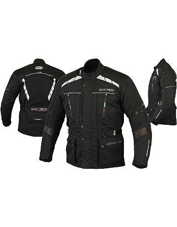 e7d5fe5d4dc MBS MJ21 James Motocicleta Motocicleta larga chaqueta de viaje textil  (Negro
