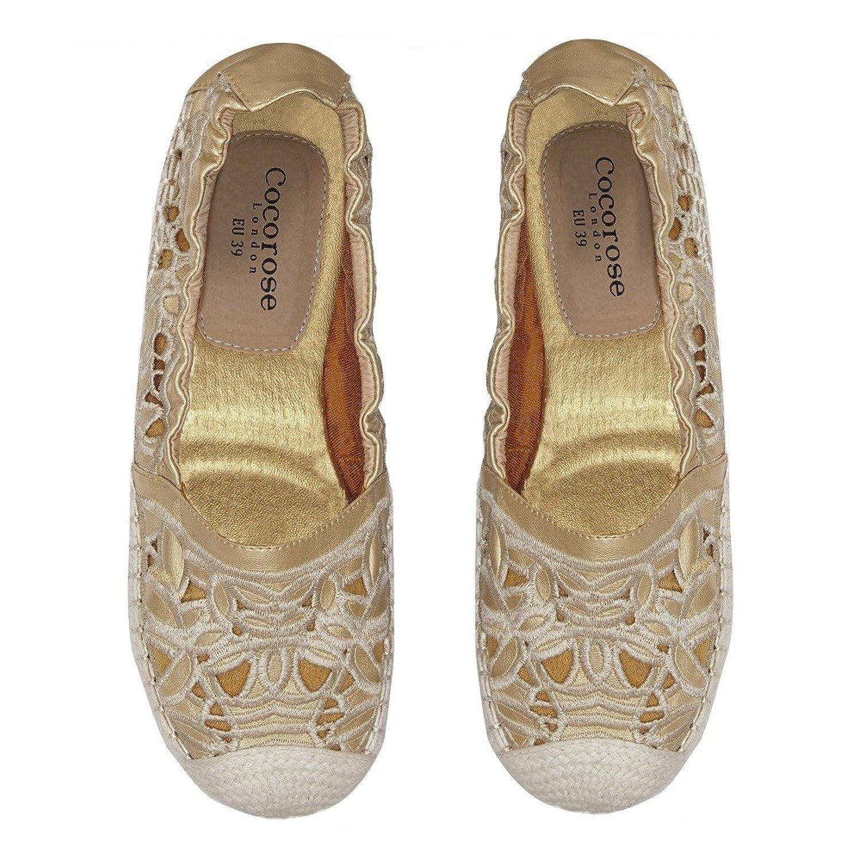 Cocorose Foldable Shoes - Strand Ladies Espadrilles - Gold Laser Cut - Size  5: Amazon.co.uk: Shoes & Bags