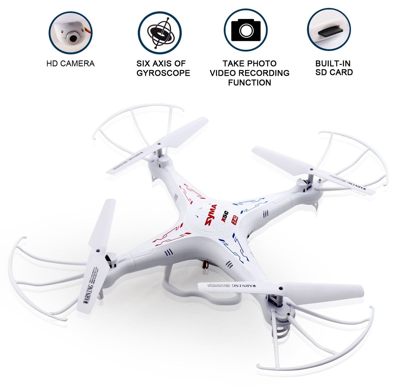 Syma X5C - Cuadricóptero, 2 MP, control remoto, blanco - paquete ...