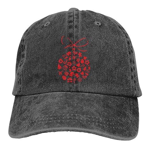 Mens Baseball Hats-Christmas Ball Baseball Caps Men Women ... 7ef61b37824