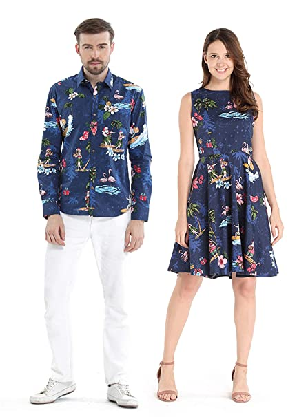 Amazon.com: Camisa de crucero Hawaiian Luau para pareja ...