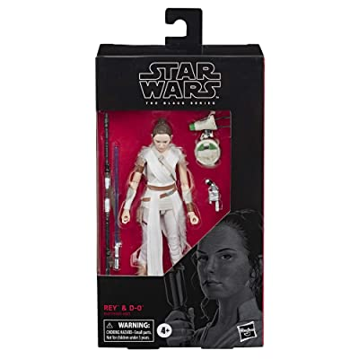 "Star Wars The Black Series Rey & D-O Toy 6"" Scale Collectible Action Figure, Kids Ages 4 & Up: Toys & Games"