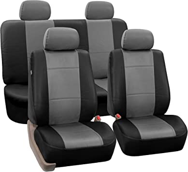 Black Color-Universal Fit TLH PU Leather Seat Covers Front Set