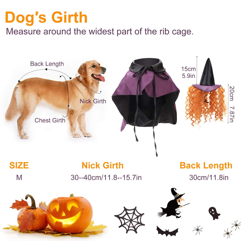 Legendog Halloween Hund Kostüm Set, Lustiger Hund Kostüm Umhang Hund Cosplay enthält Hut Umhang Cute Dog Kostüm Pet Kostüm Set
