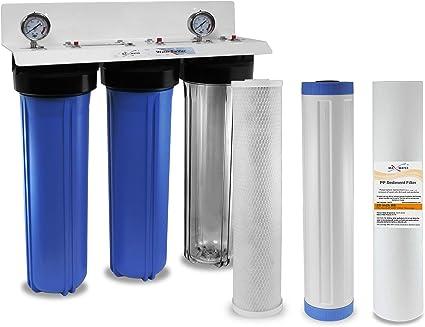 "BIG BLUE Set of 3 Water Filter Replacement Sediment GAC Carbon Block 10/""x4.5/"""