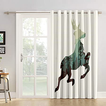 Cortinas de cocina con diseño de gotas de águila para salón, dormitorio, puerta corrediza de cristal o patio: Amazon.es: Hogar