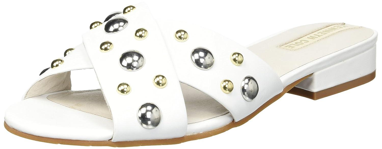 Kenneth Cole New York Women's Verna Stud X-Band Flat Sandal B079JV67WP 6 B(M) US|White