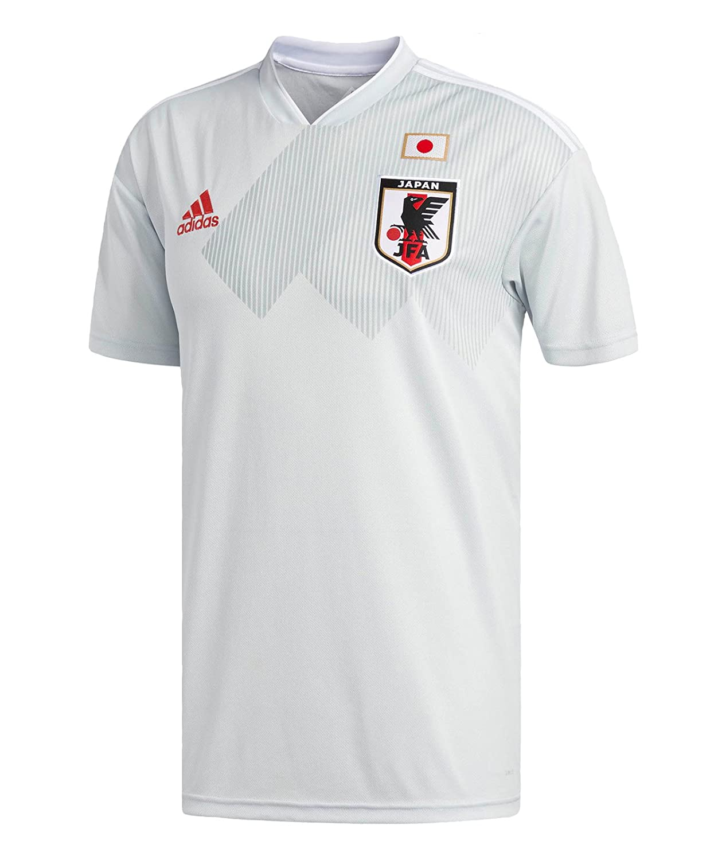 2018 World Cup of Soccer Team Japan Away adidas Replica Grey Jersey (Large)