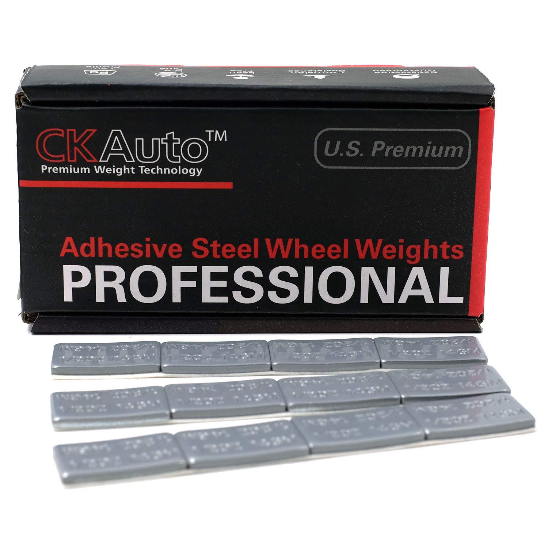 Ultra Slim Low Profile Black Adhesive Stick on Wheel Weights 0.5oz 60 oz//Box 120pcs CK Auto 1//2oz US Quality,