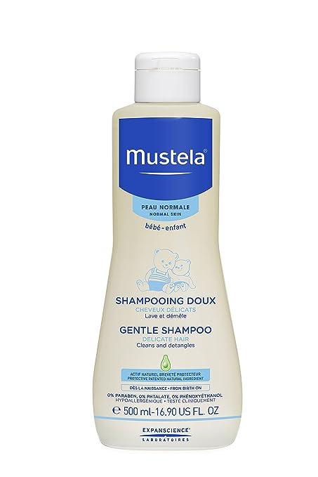 4. Mustela Gentle Shampoo, Tear Free Baby Shampoo - Best Detangling Baby Shampoo