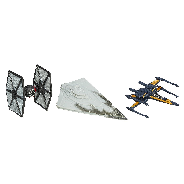 Star Wars –  El Despertar de la Fuerza Micro Machines 3 Unidades la Primera Orden ataques Hasbro B3501AS0