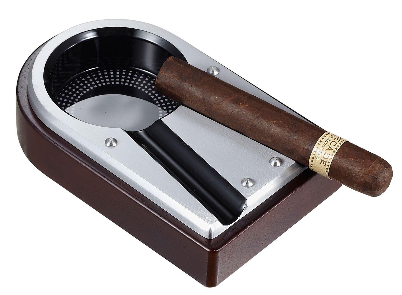 Visol Lock Metal and Wood Cigar Ashtray