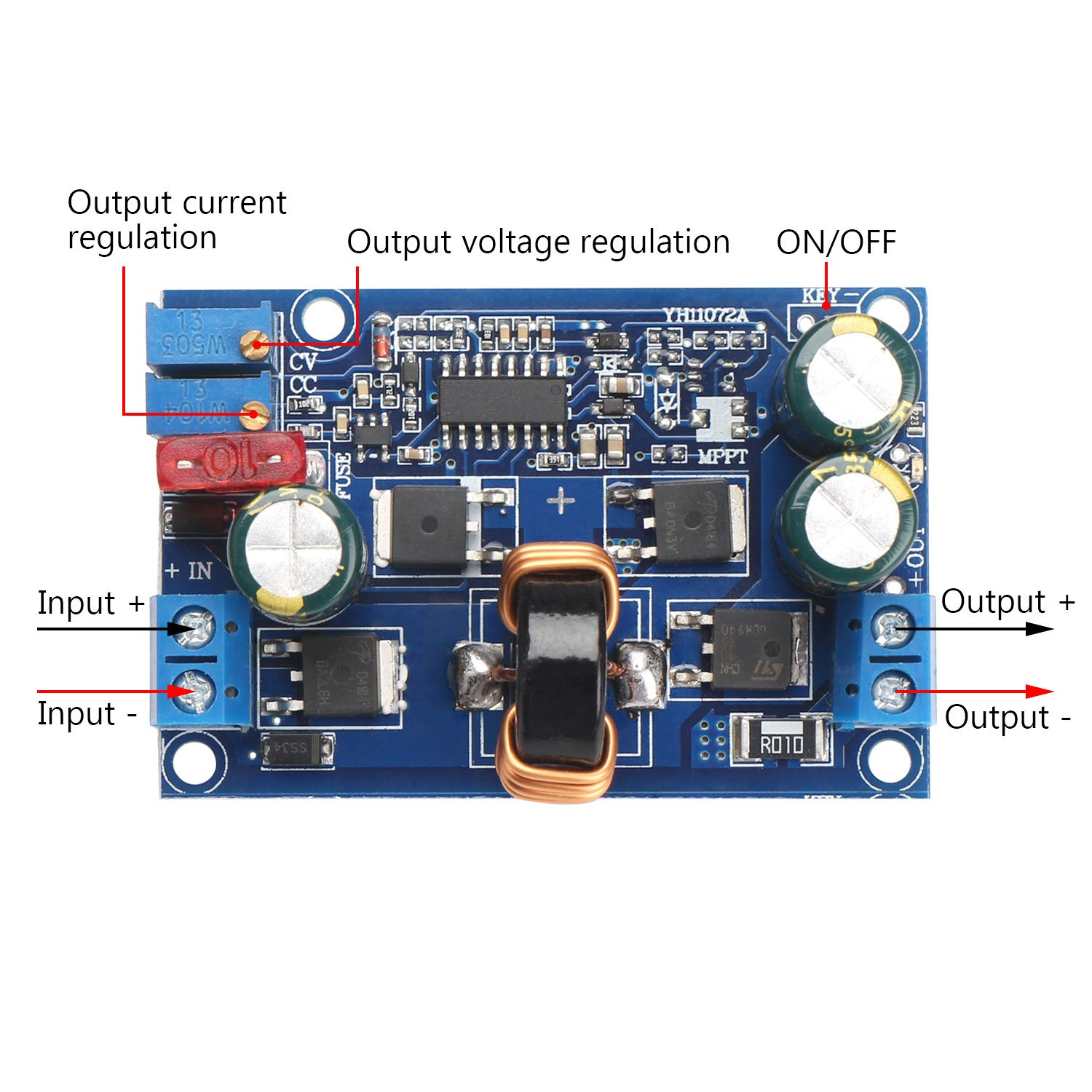 Drok Dc Automatic Boost Buck Converter Module 60w Electronics Technology 5vdc To 12vdc Lt1070 Circuit Constant Voltage Current Car Regulator Dc5 32v 125 20v Industrial Scientific