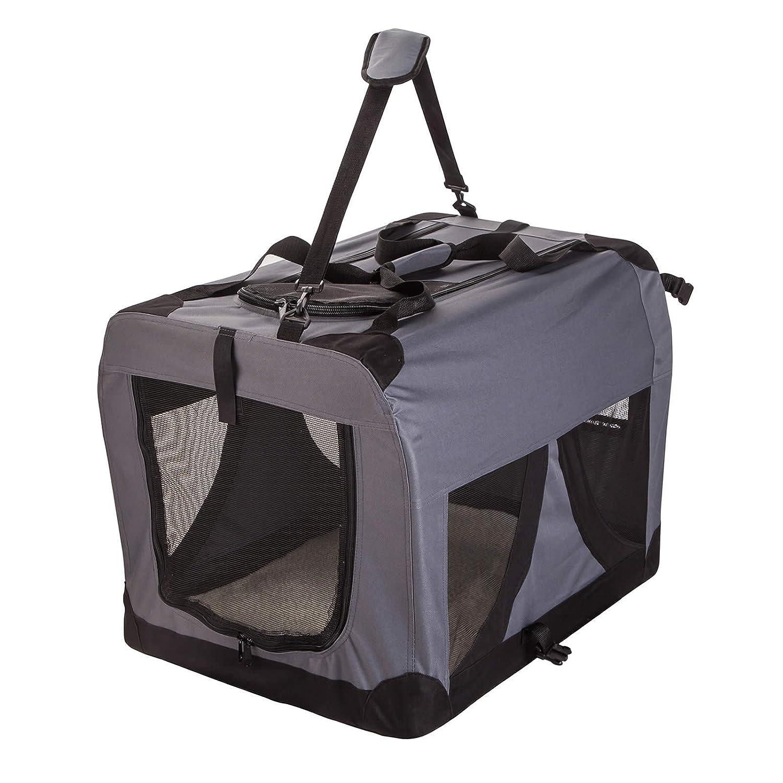 Grey XXXL Grey XXXL Portable Foldable Pet Soft Dog Cat Carrier Crate Travel Cage Kennel Large L XXXL Red Navy Grey
