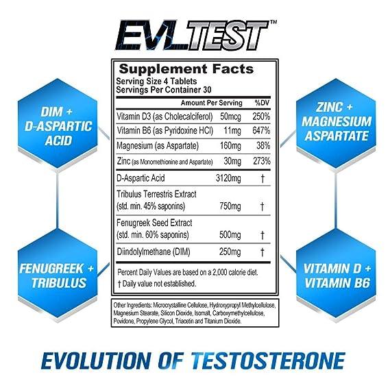 Evlution Nutrition EVL TEST Booster De Testosterona ...