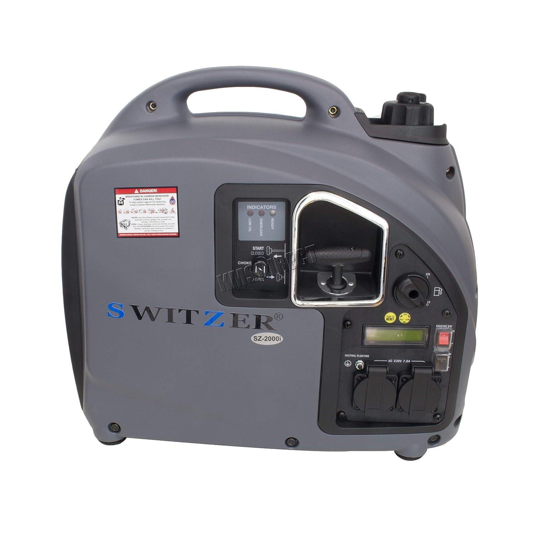 switzer portable petrol gasoline inverter generator 4 stroke ohv rh amazon co uk