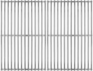 """Hongso 16 5/8"""" SUS 304 Stainless Steel Grill Grid Cooking Grate Replacement for Thermos Grill Parts 461252605, Kirkland Front Avenue 463230703, Charbroil 463261306, Kenmore, BBQ Pro SCB932(2-Pack)"""