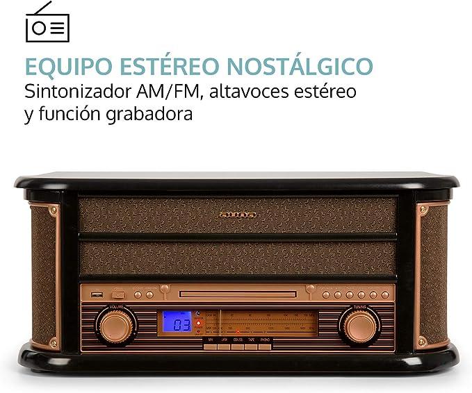 auna Belle Epoque 1908 - Equipo de música estéreo , Tocadiscos ...