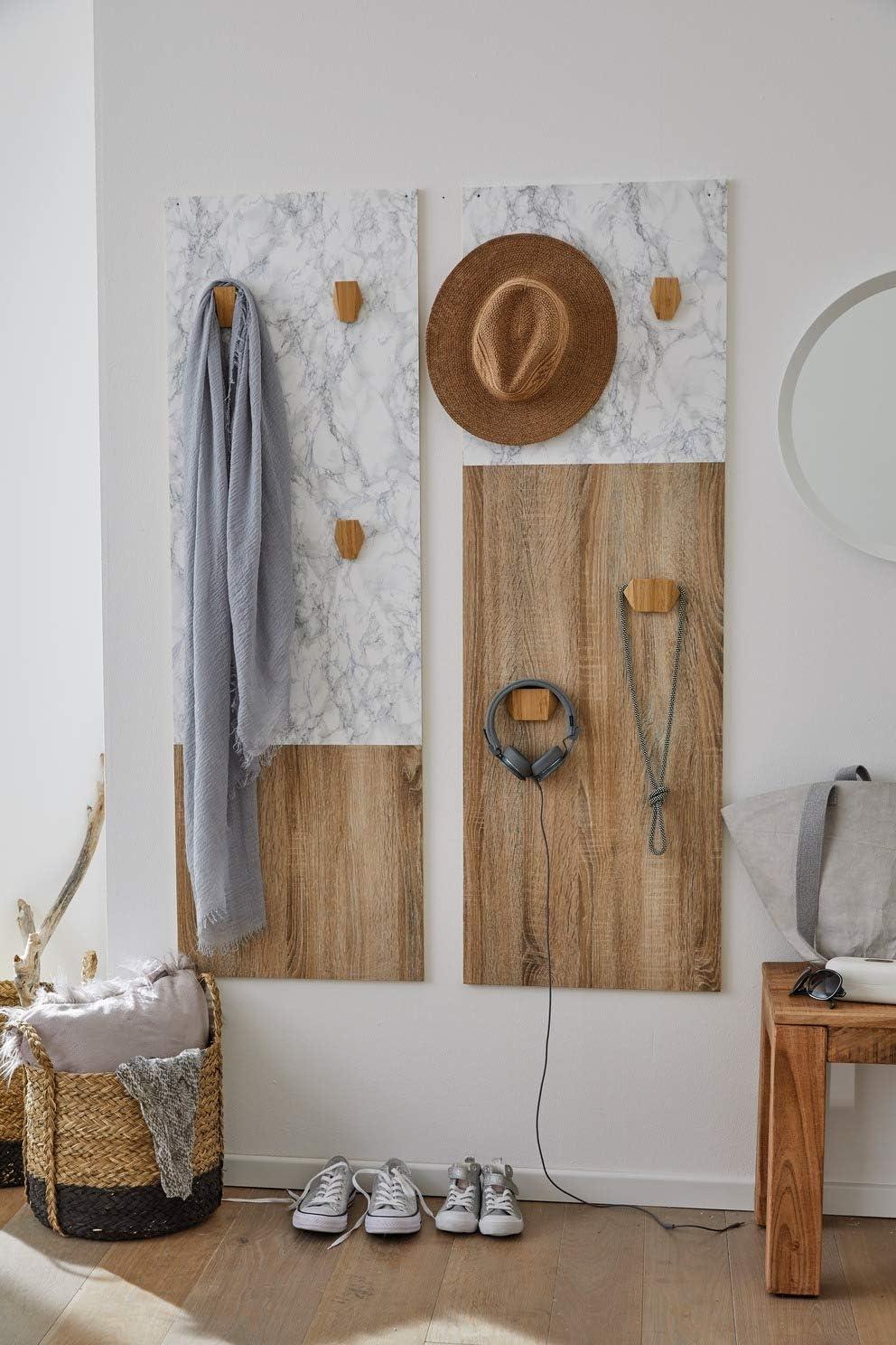 L/ámina adhesiva de madera blanca para muebles dise/ño de rayas 45 cm x 300 cm