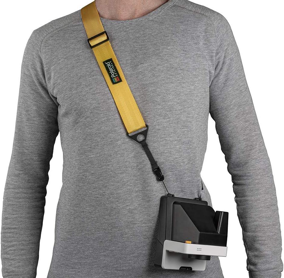 Yellow Polaroid Camera Strap Flat 4943