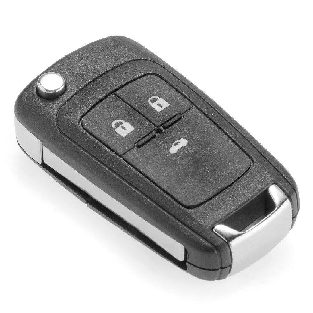 Llave de repuesto para coches con control remoto para Chevrolet Cruze Aveo Aoto, tamaño mini.
