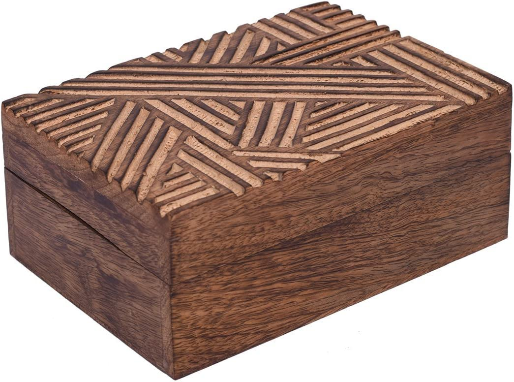 storeindya Diwali Gift Boxes for Women Ideas Diwali Games Boxes Festive Décor Return Gifts for All Indian Festival of Lights, Handmade Wooden Jewelry Keepsake Box Storage Organizer Multipurpose Box