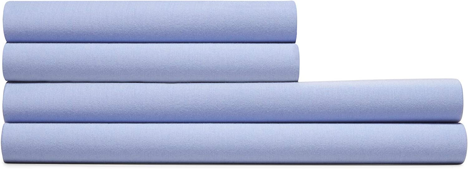 Calvin Klein Home Modern Cotton Harrison Sheet, Queen, Solid Periwinkle