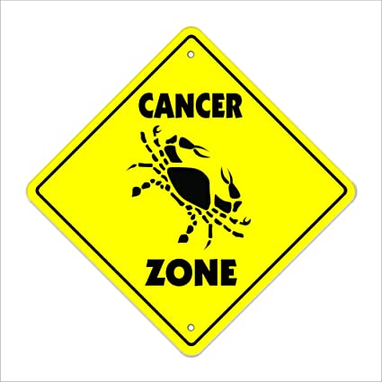 Amazon Com Cancer Crossing Sign Zone Xing Indoor Outdoor 12