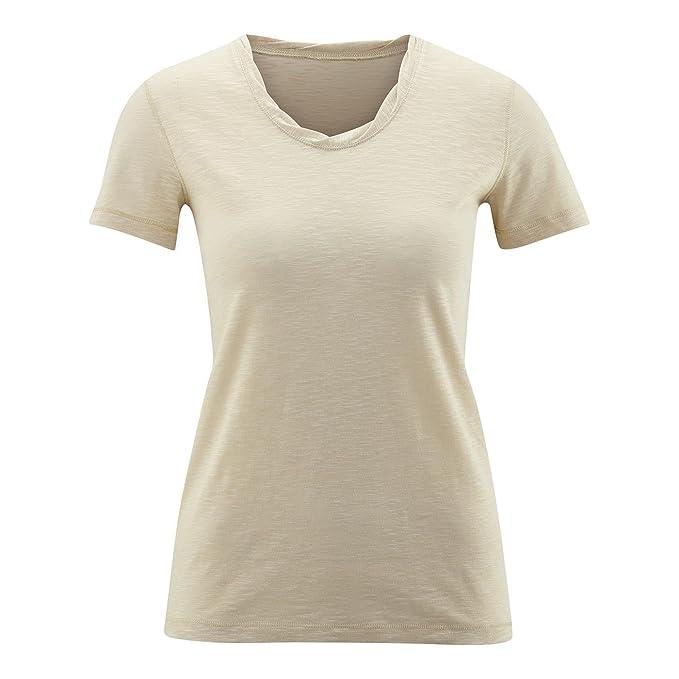 Living Crafts Camiseta Manga Corta Alexandra 100% Algodón Orgánico (XS, Beach)