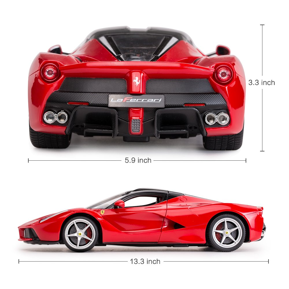 RASTAR RC Car   1/14 Scale Ferrari LaFerrari Radio Remote Control R/C Toy Car Model Vehicle for Boys Kids, Red, 13.3 x 5.9 x 3.3 inch by RASTAR (Image #4)