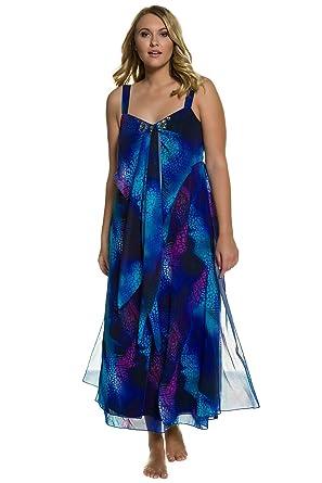 f17acd2cd0c Ulla Popken Women s Plus Size Animal Print Chiffon Layer Dress Multi 18  710900 90-44