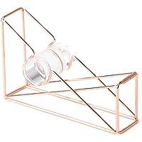 U Brands - Vaso para lápices, alambre de metal, Dispensador de cinta adhesiva, Copper/Rose Gold