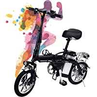 Convincied Bicicleta eléctrica, 350W, Batería 48V 10Ah - 35km/h,El kilometraje es de 50-60 km.