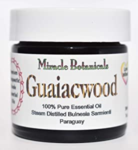 Miracle Botanicals Guaiacwood Essential Oil - 100% Pure Bulnesia Sarmienti - Therapeutic Grade - 30ml/1oz