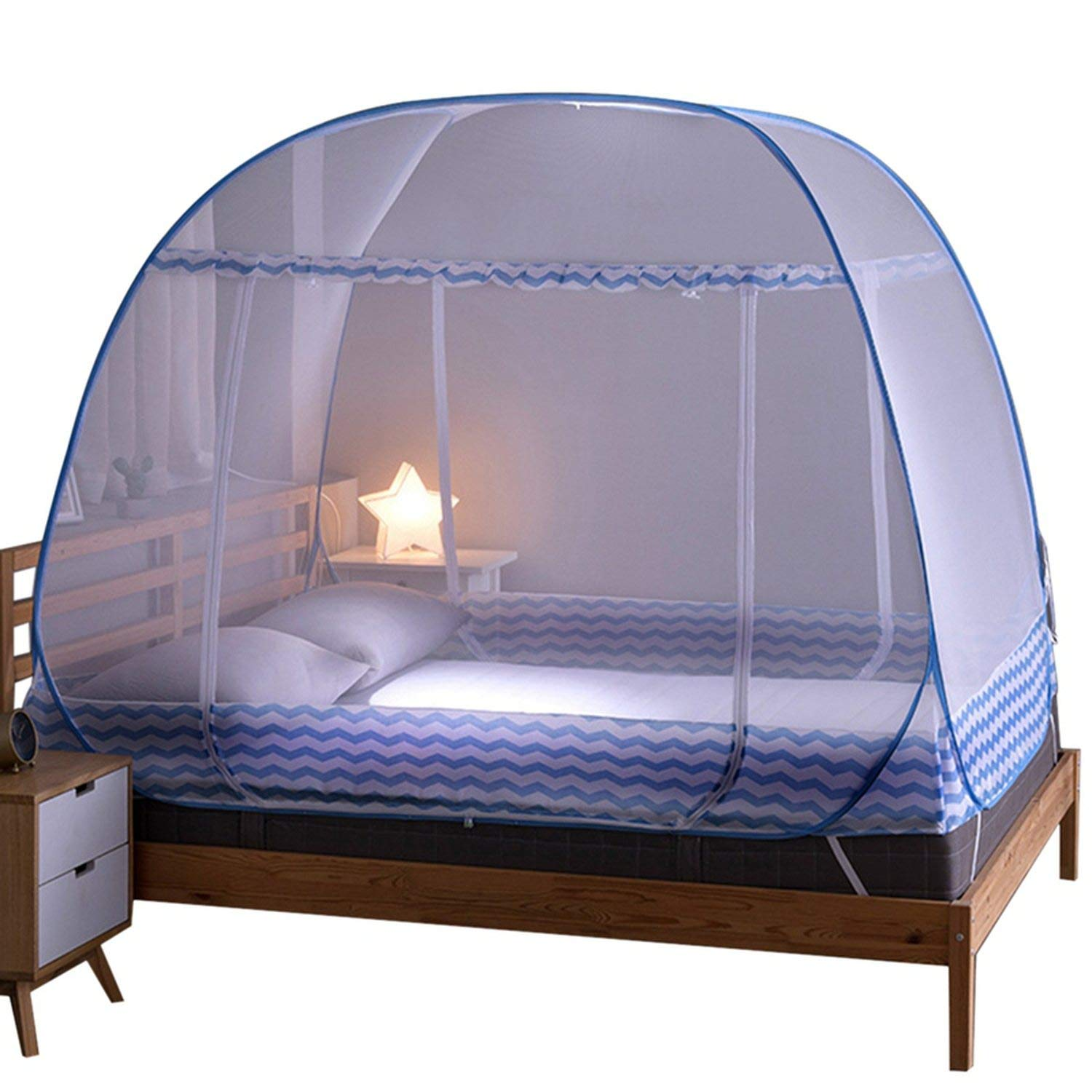 Mosquito Bed Netting Tent Durable Home Decor Student Bunk Breathable Mosquito Net Bed Net Mesh Tent,Blue,M
