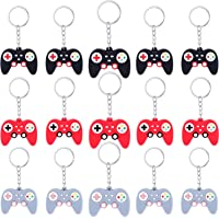24 Pieces Video Game Controller Keychains Game Controller Handle Key Ring Pendant Charms for Video Game Party Favors…