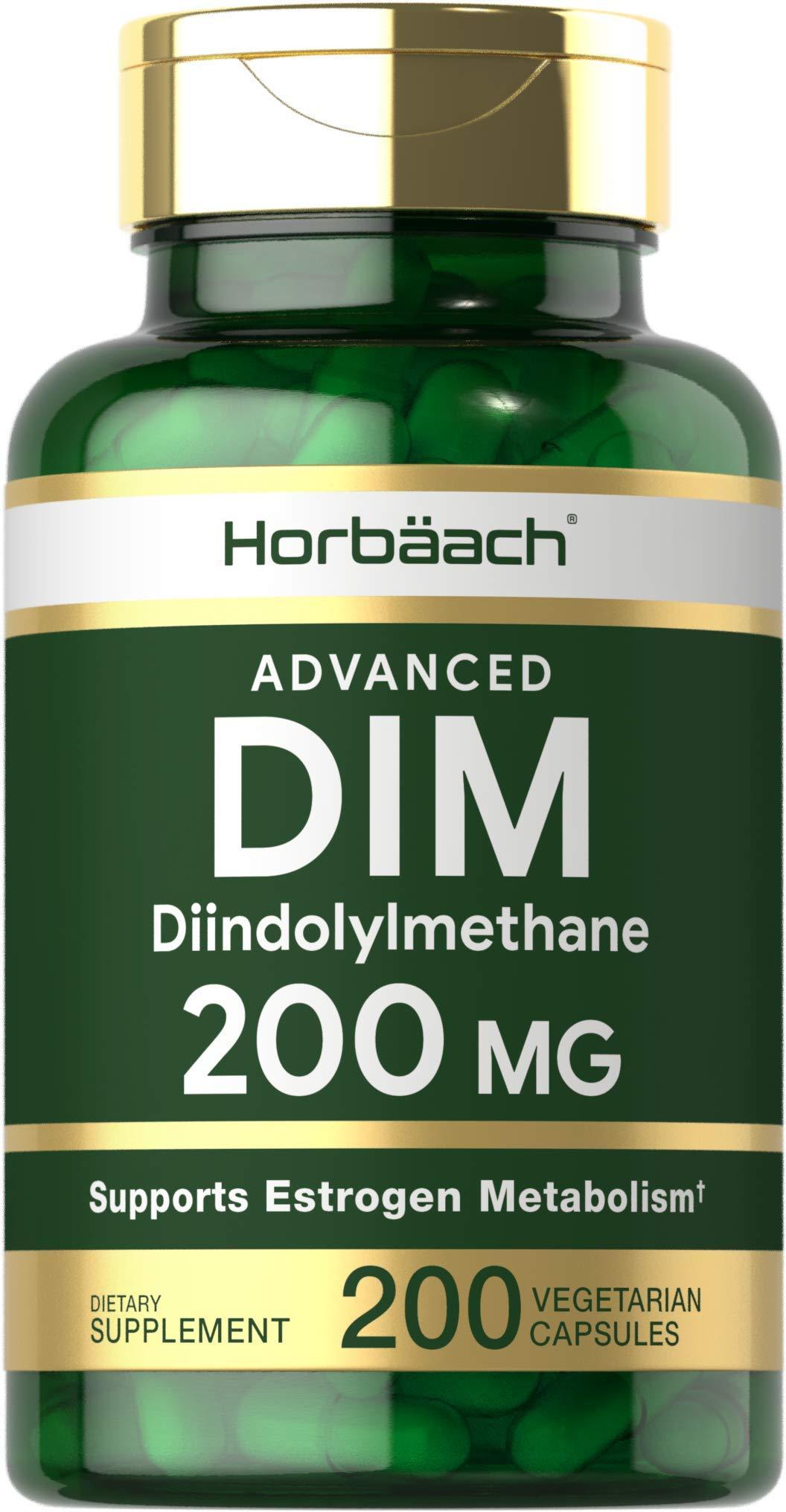 DIM Supplement 200mg   Advanced Diindolylmethane   200 Veggie Capsules   Vegetarian, Non-GMO, Gluten Free   by Horbaach