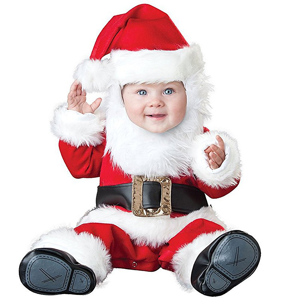 3b6a15e63 Amazon.com: Hug Me Toddler Baby Infant Santa Claus OneSize Dress Up Toddler  Christmas Costume: Clothing