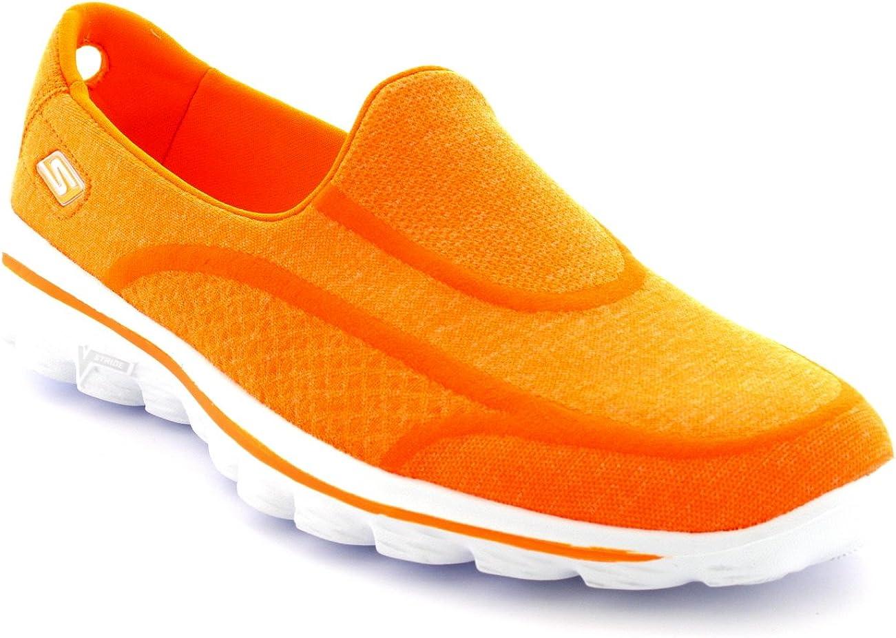 Skechers Go Walk 2 Super Sock Femme Orange Sport Aller Actif