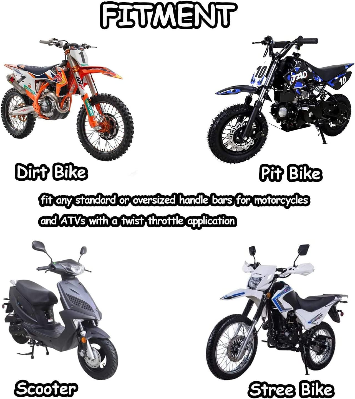 Universal Motorcycle Hand Grips 2pcs 7//8Pillow Grip Anti-slip Rubber Racing Grip For Dirt Bike Motocross Honda CR80R//85R CR125R//250R CRF450R BLACK CRF150R