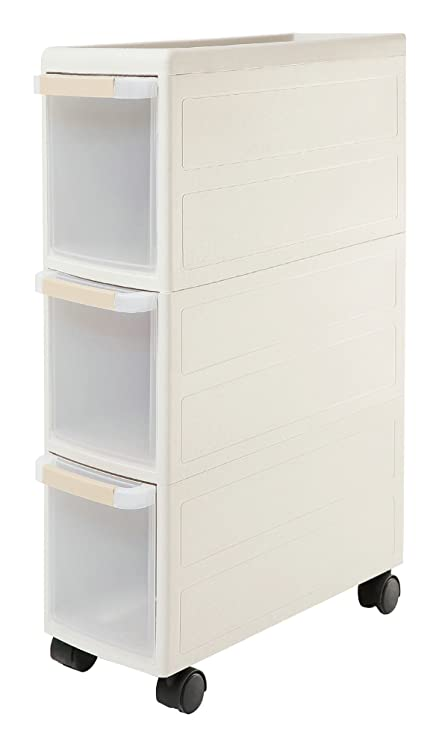Orolay Plastic Storage Trolley With Drawers On Wheels Cabinet Rack With Drawers Grey Tier