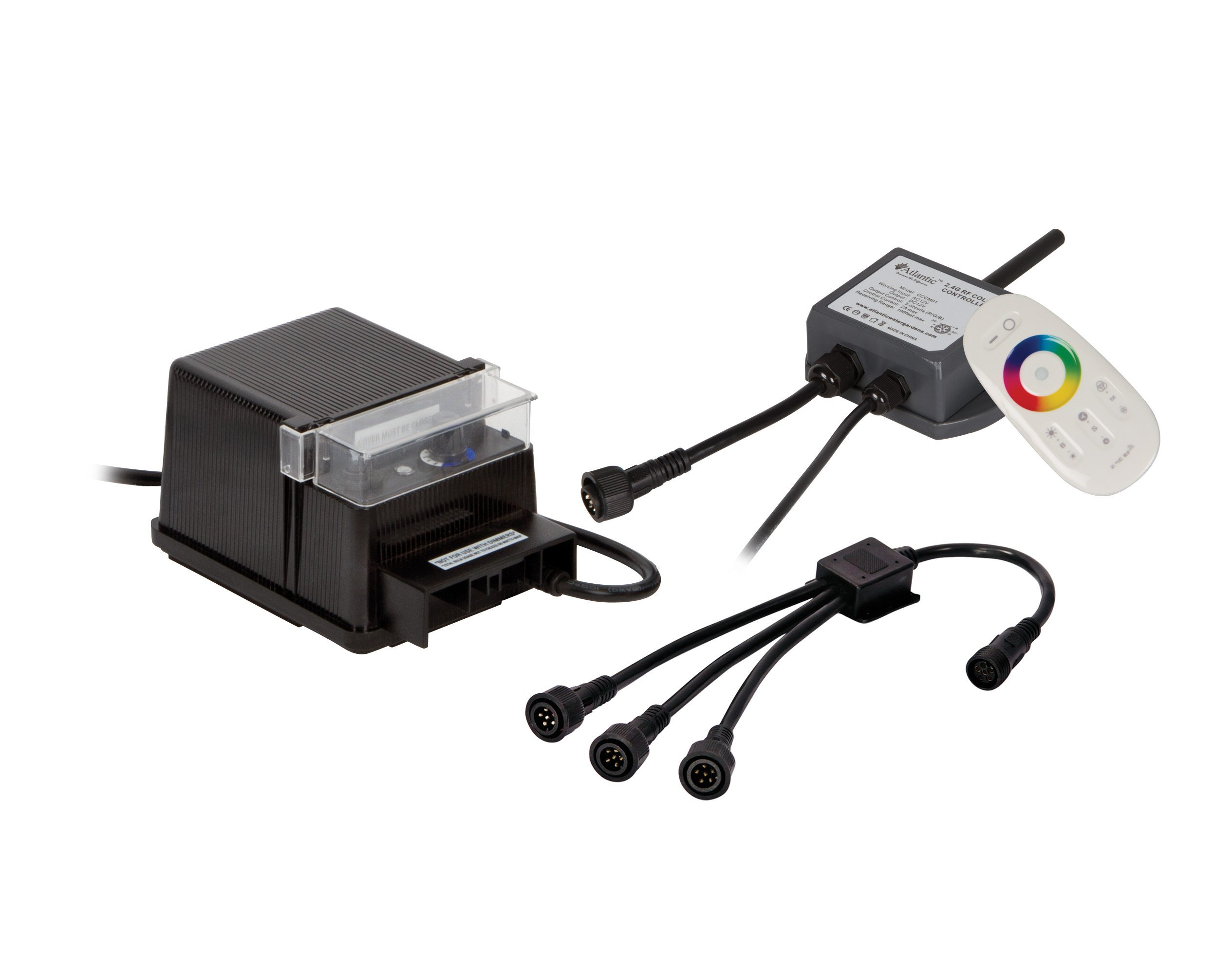 Atlantic Water Gardens 7-Way Wiring Kit for Color Changing LED Lights with Control Module & Remote