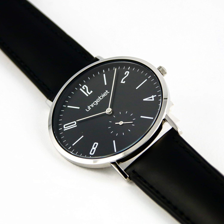 Reloj De Pulsera Montaña de Acero Inoxidable en Bauhaus Diseño - uhrgebiet: Amazon.es: Relojes