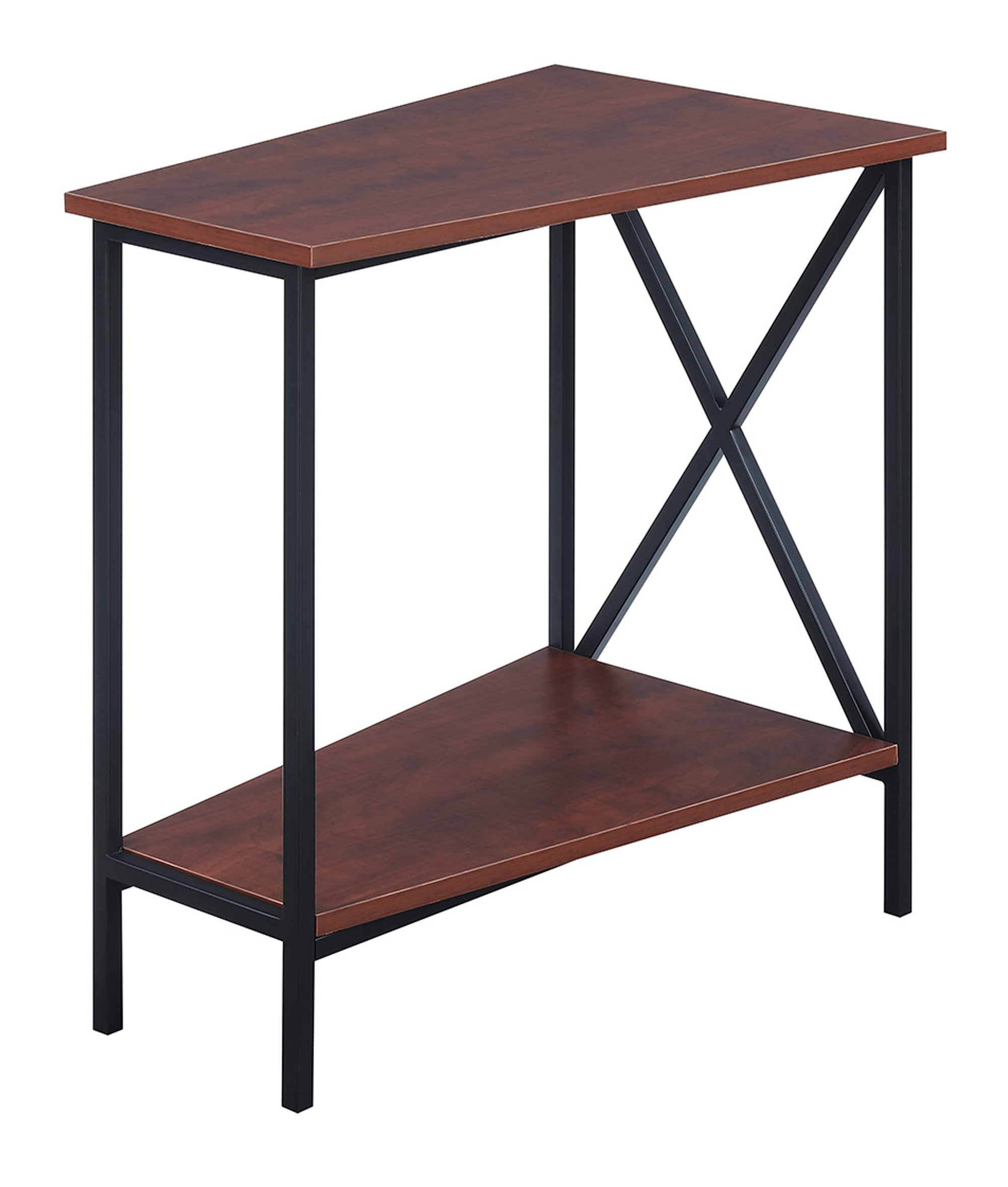 Convenience Concepts Tucson Wedge End Table, Black / Cherry by Convenience Concepts Tucson Wedge End Table, Black / Cherry (Image #3)