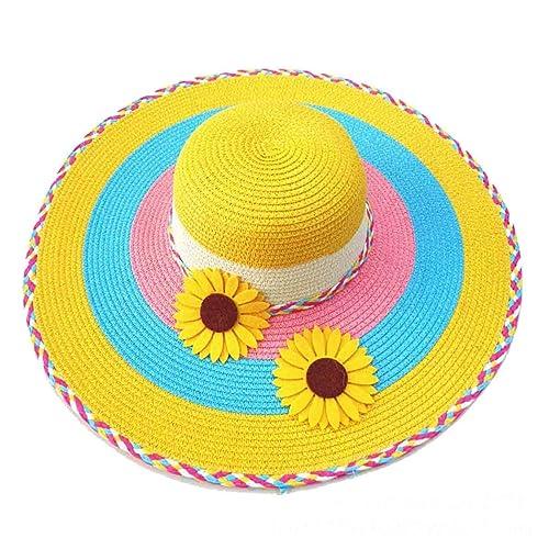 Protección Solar ZHDADA Señoras Sombrero Para El Sol Del Verano Del Sombrero De Sun