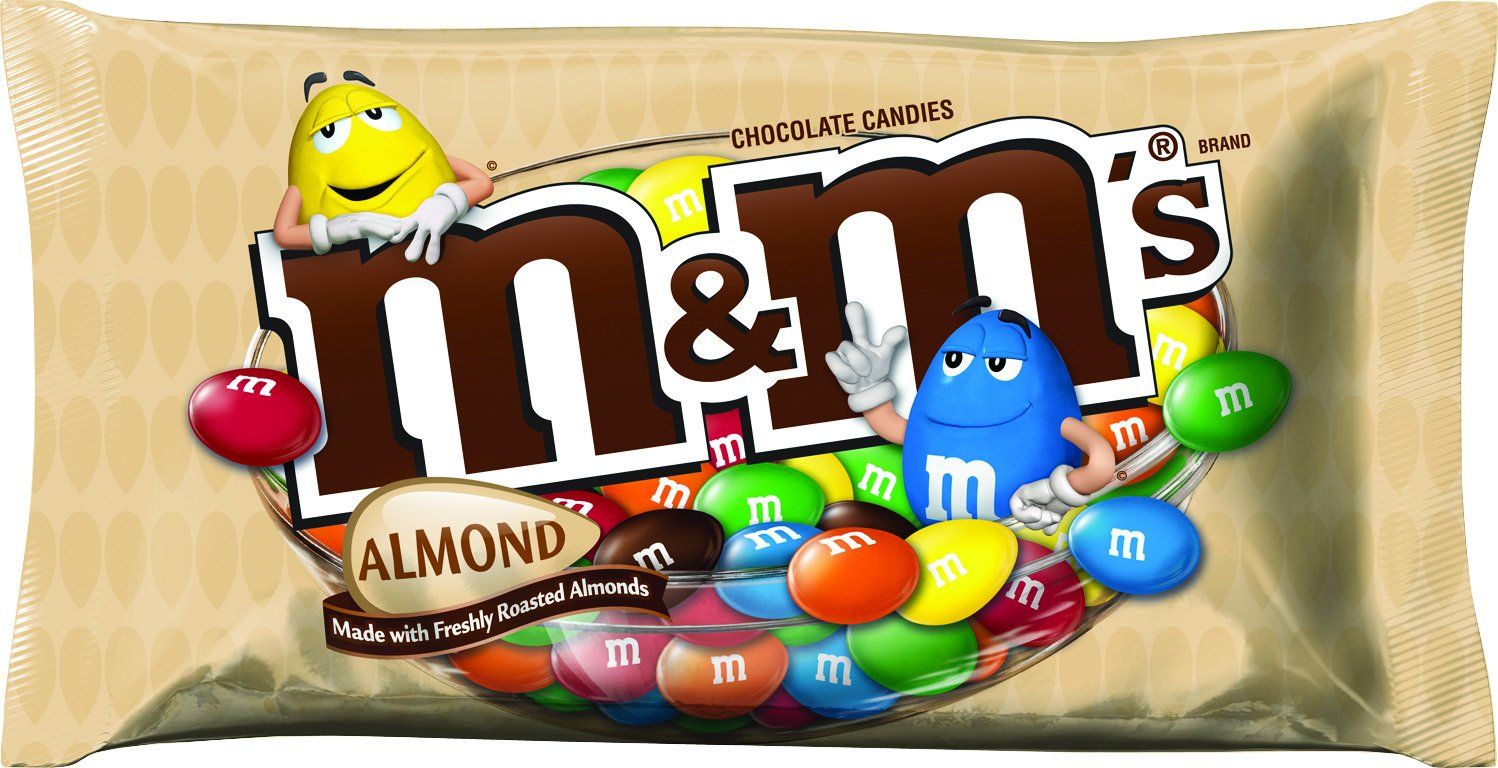 Amazon.com : M&M'S Almond Chocolate Candy 9.9-Ounce Bag (Pack of 6 ...