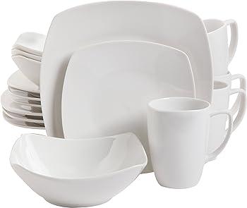 Gibson Home Zen Buffetware 16 Piece Dinnerware Set (White)