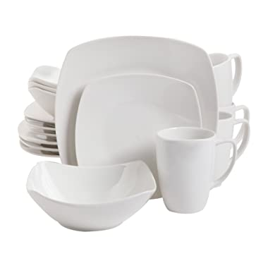 Gibson Home Zen Buffetware 16 Piece Dinnerware Set, White
