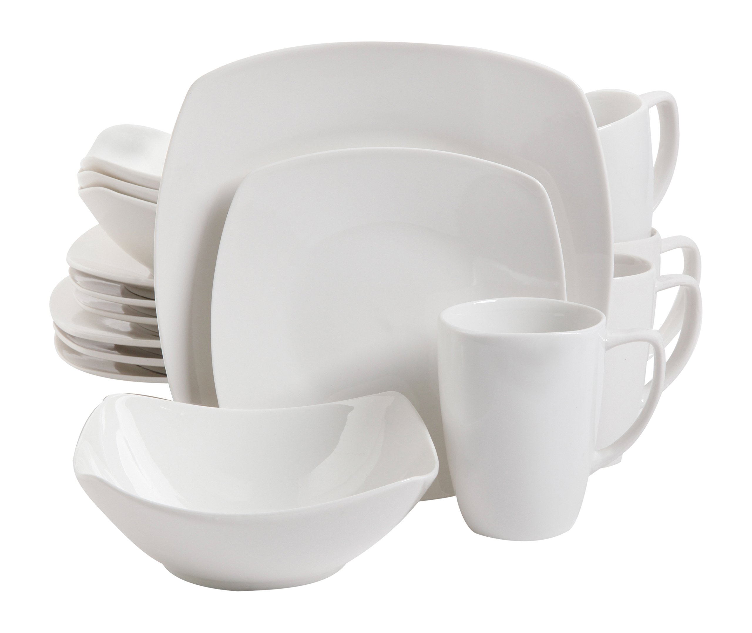 Gibson Home 102539.16RM Zen Buffetware 16 Piece Dinnerware Set, White by Gibson Home (Image #1)