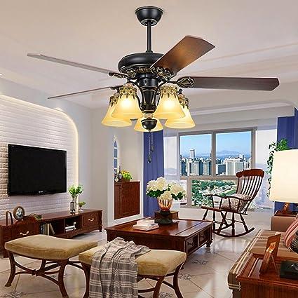 LuxureFan Retro Classic Ceiling Fan Light Fixture Elegant Decoration For Modern Restaurant Living Room